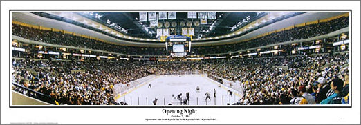 Boston Bruins Fleet Center (TD Garden) Opening Night Panoramic Poster - Everlasting Images