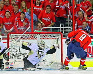 "Marc-Andre Fleury ""Stones Ovechkin"" (2009) Pittsburgh Penguins Premium Poster Print - Photofile 16x20"