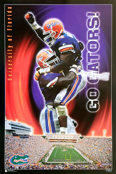 "Florida Gators ""Go Gators!"" NCAA College Football Sports Poster - Costacos 1996"