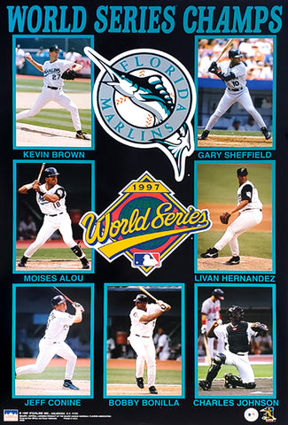 Florida Marlins 1997 World Series Champions Official MLB Commemorative Poster - Starline Inc.