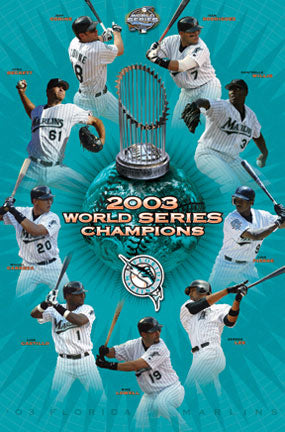Florida Marlins 2003 World Series Champions Commemorative Poster - Costacos Sports