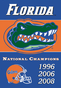 Florida Gators Football 3-Time National Champions Banner - BSI Products