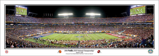 2009 BCS Championship Game Panoramic Print - Everlasting Images Inc.