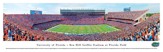 Florida Gators Football Ben Hill Griffin Stadium Gameday Panoramic Poster Print - Blakeway