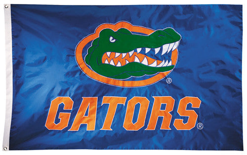 Florida Gators Official NCAA Premium Nylon Applique 3'x5' Flag - BSI Products Inc.
