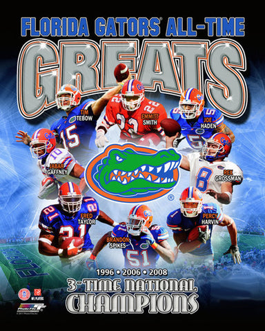 "Florida Gators Football ""All-Time Greats"" Commemorative Print - Photofile Inc."