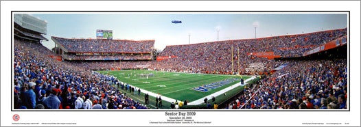 "Florida Gators ""Senior Day 2009"" Griffin Stadium Panoramic Poster Print - Everlasting"