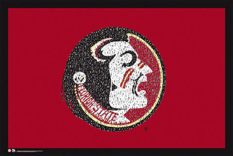 Florida State Seminoles Fight Song NCAA Logo Poster - LA Pop