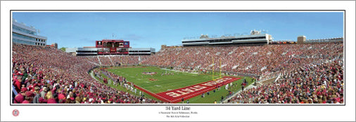 "Florida State Seminoles ""34 Yard Line"" Stadium Panoramic Poster - Everlasting"