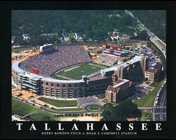 Florida State Seminoles Doak S. Campbell Stadium Gameday Poster - Aerial Views