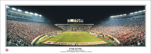 "Florida State Seminoles Football ""End Zone"" Doak Campbell Stadium Panoramic Poster - Everlasting Images"