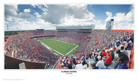 "Florida Gators ""The Swamp"" Gameday Panoramic Poster - Sports Photos Inc. 2005"