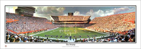 "Florida Gators ""The Swamp"" Ben Hill Griffin Stadium Gameday Panoramic Poster - Everlasting"