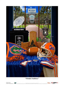 "Gators Football ""Florida Traditions"" Print - USA Sports Inc."