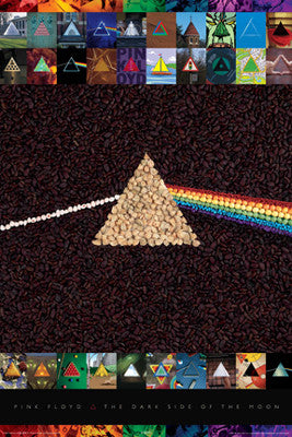 "Pink Floyd The Dark Side of the Moon ""31 Versions"" Album Cover Poster - Aquarius"