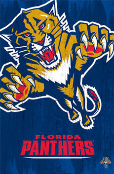 Florida Panthers NHL Hockey Official Team Logo Poster - Costacos 2013