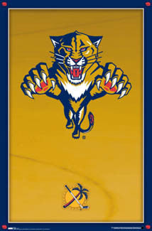 Florida Panthers Official Logo Poster - Costacos Sports