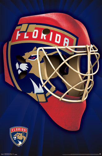 "Florida Panthers ""Mask"" NHL Hockey Official Team Logo Theme Wall POSTER - Trends 2016"