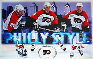 "Philadelphia Flyers ""Philly Style"" Poster (Lindros, Recchi, LeClair) - Costacos Sports 2000"
