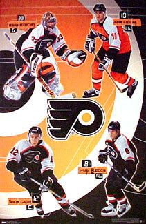 "Philadelphia Flyers ""Superstars"" Poster (LeClair, Recchi, Boucher, Gagne) - Costacos 2000"