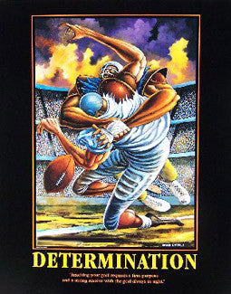 "Football ""Determination"" Motivational Print by Ernie Barnes"