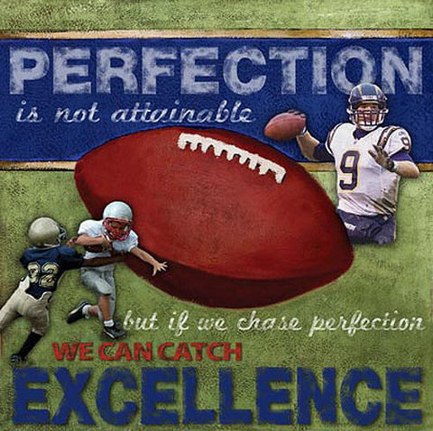 "Football ""Excellence"" Motivational Poster Print - Image Source"