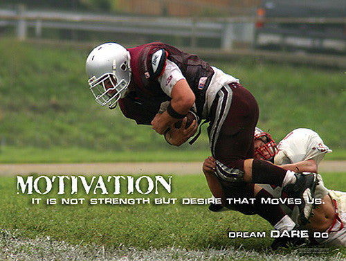 "Football ""Motivation"" Inspirational Motivational Action Poster - Jaguar Inc."