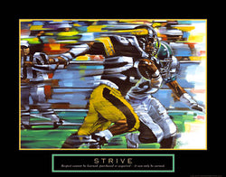 "Football ""Strive"" (Running Back) Motivational Poster - Front Line"