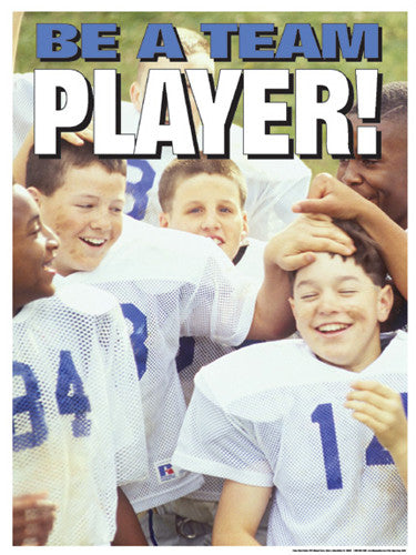 "Youth Football ""Be a Team Player"" Motivational Poster - Fitnus"