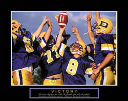 "Youth Football ""Victory"" Motivational Poster - Front Line"