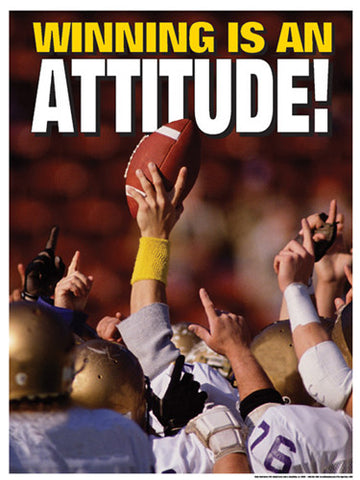"High School Football ""Winning is an Attitude"" Motivational Poster - Fitnus"