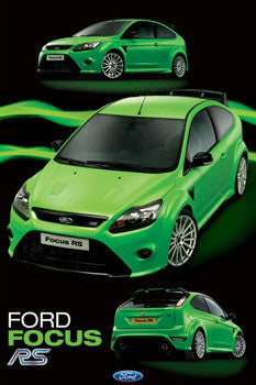 Ford Focus RS Limited-Edition 2009-10 Autophile Wall Poster - Pyramid 2010