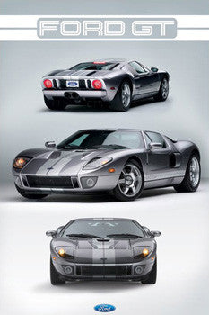 "Ford GT (2005-2006) ""Three Shot"" Poster - Pyramid International"
