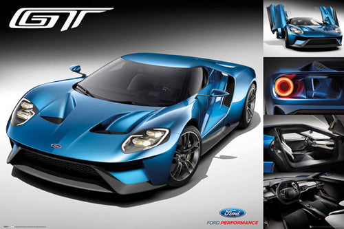 Ford GT Supercar (2017) Autophile Profile Poster - GB Eye