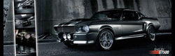 Ford Shelby GT500 Silver-and-Black GIANT Wall-Sized Autophile Car Poster - GB Eye