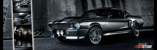 Ford Shelby GT500 Silver-and-Black GIANT Wall-Sized Poster - GB Eye
