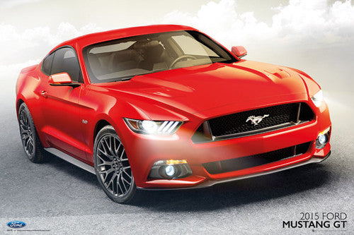 Ford Mustang GT 2015 American Muscle Car Autophile Poster - GB Eye