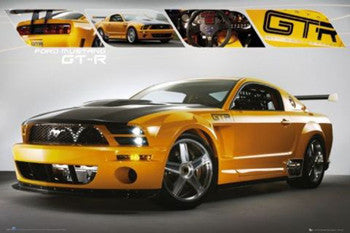 "Ford Mustang GTR ""Yellow"" (2011) Autophile Profile Poster - GB Eye Inc."