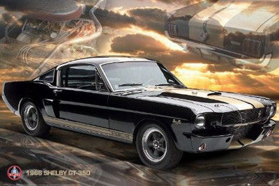 1966 Shelby GT-350 Classic Car Poster - GB Eye 2010