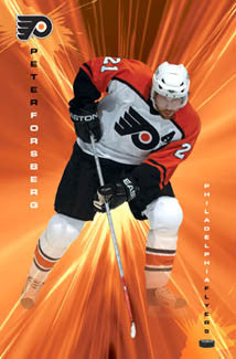 "Peter Forsberg ""Philly Flash"" Philadelphia Flyers NHL Hockey Poster - Costacos 2005"