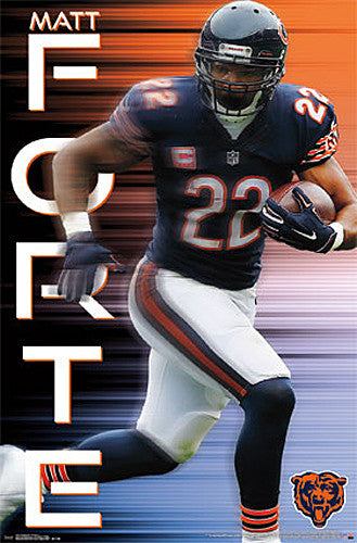 "Matt Forte ""Roaring 20"" Chicago Bears Running Back NFL Poster - Trends 2015"