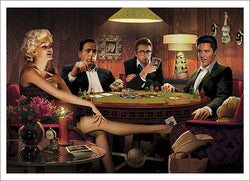 "Legends Playing Poker ""Four of a Kind"" Art Print Poster by Chris Consani"
