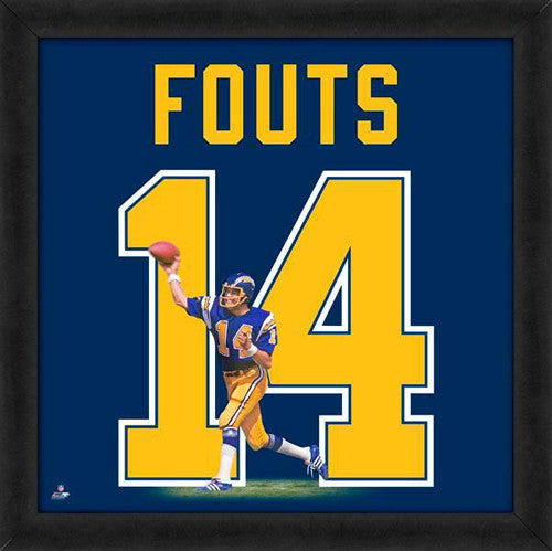 "Dan Fouts ""Number 14"" San Diego Chargers FRAMED 20x20 UNIFRAME PRINT - Photofile"