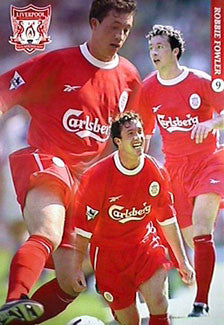 "Robbie Fowler ""Action"" Liverpool FC EPL Football Action Poster - UK 1999"