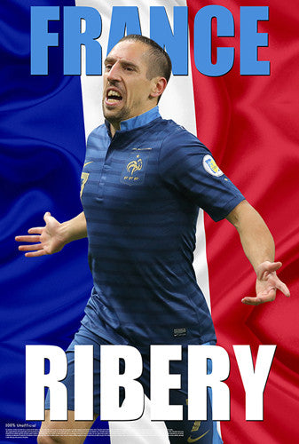 "Franck Ribery ""France Fantastic"" World Cup 2014 Soccer Superstar Poster - Starz"