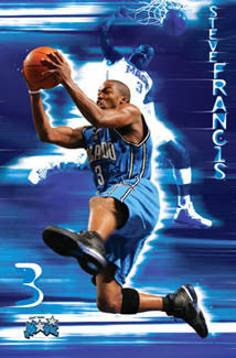 "Steve Francis ""Supercharged"" Orlando Magic NBA Action Poster - Costacos 2005"
