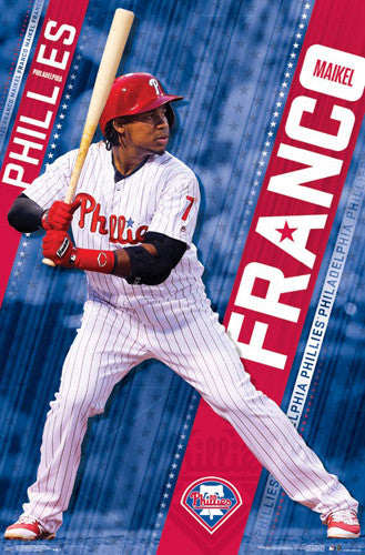 "Maikel Franco ""Superstar"" Philadelphia Phillies MLB Baseball Action POSTER - Trends 2017"