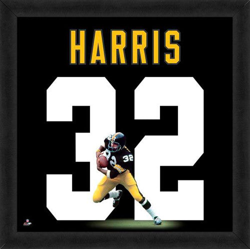 "Franco Harris ""Number 32"" Pittsburgh Steelers NFL FRAMED 20x20 UNIFRAME PRINT - Photofile"