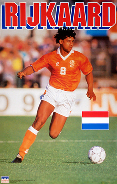 Frank Rijkaard Team Netherlands Football Soccer Action Poster - Starline Inc. 1994