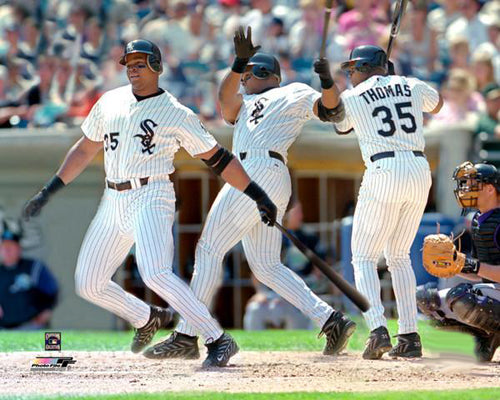 "Frank Thomas ""The Swing"" (c.1992) Chicago White Sox Multi-Exposure Premium Poster Print- Photofile Inc."